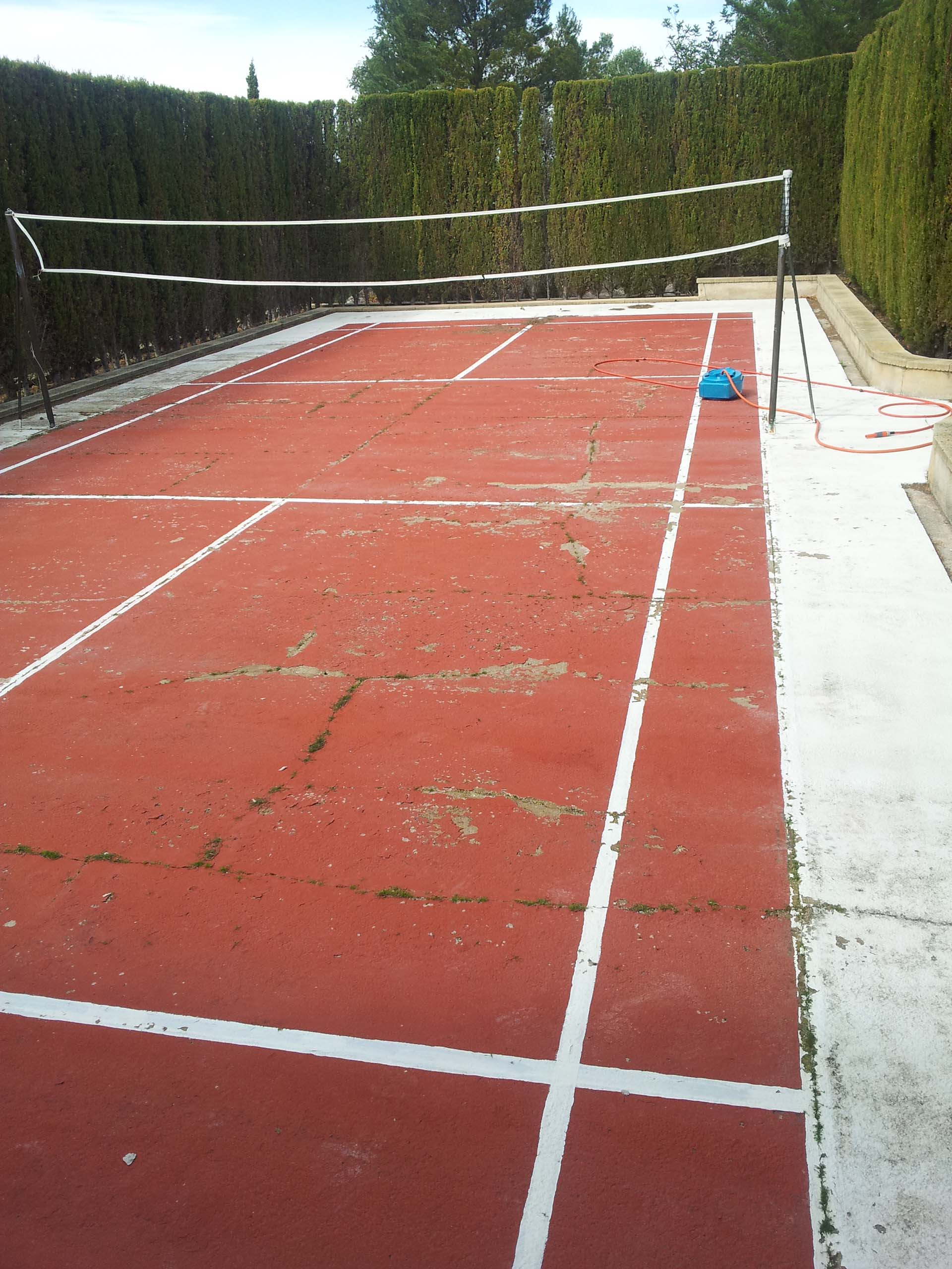 Pista de césped artificial bádminton